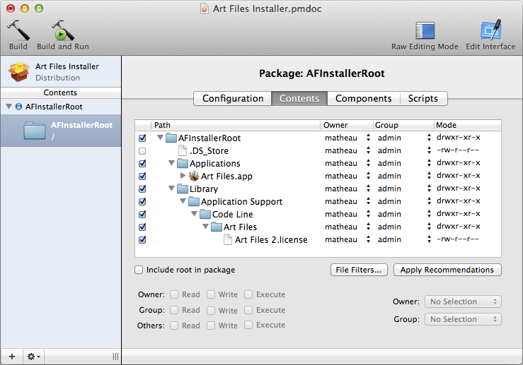 ArtFiles PackageMaker Installer